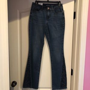 NWTS INC Jean 4 funky boot cut bottoms eyelet